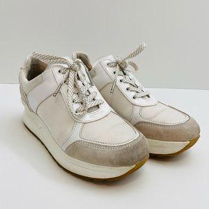 Michael Kors White Platform Sneakers Size 8